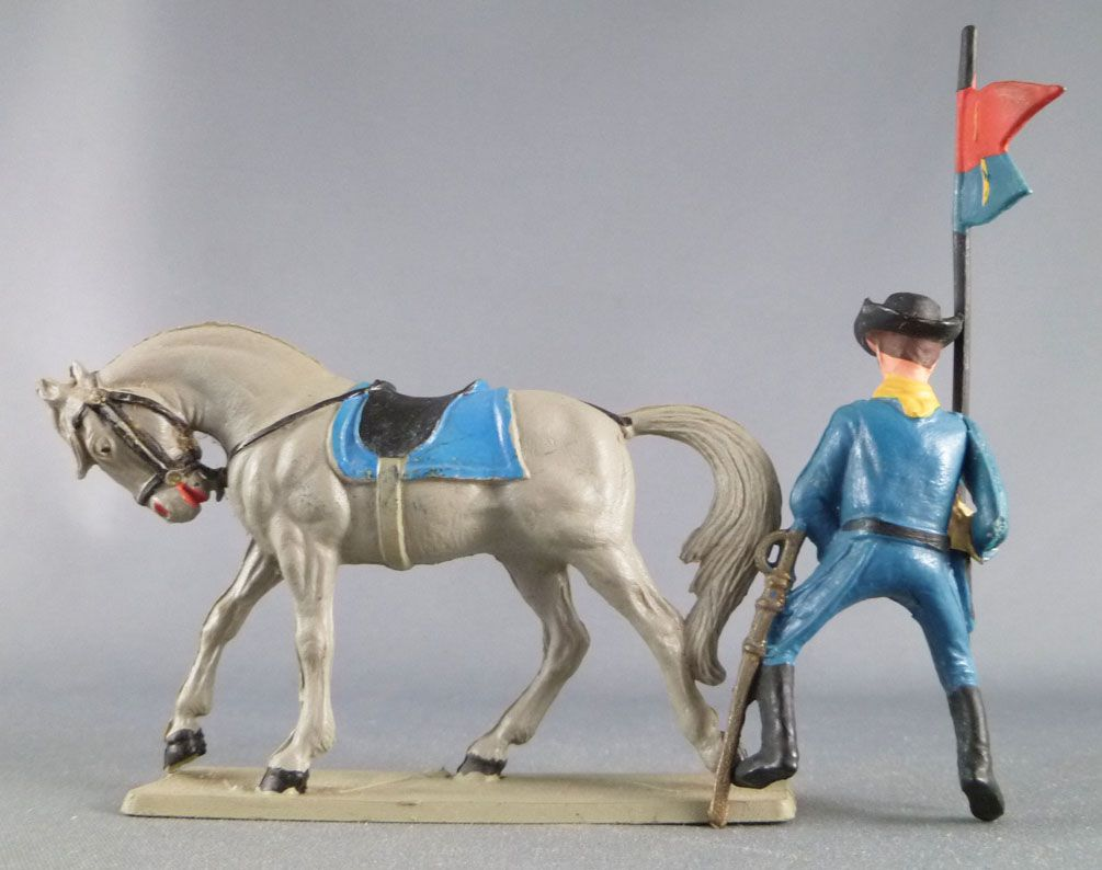 Starlux - Tuniques Bleues - Cavalier Porte-fanion (réf CTB18)