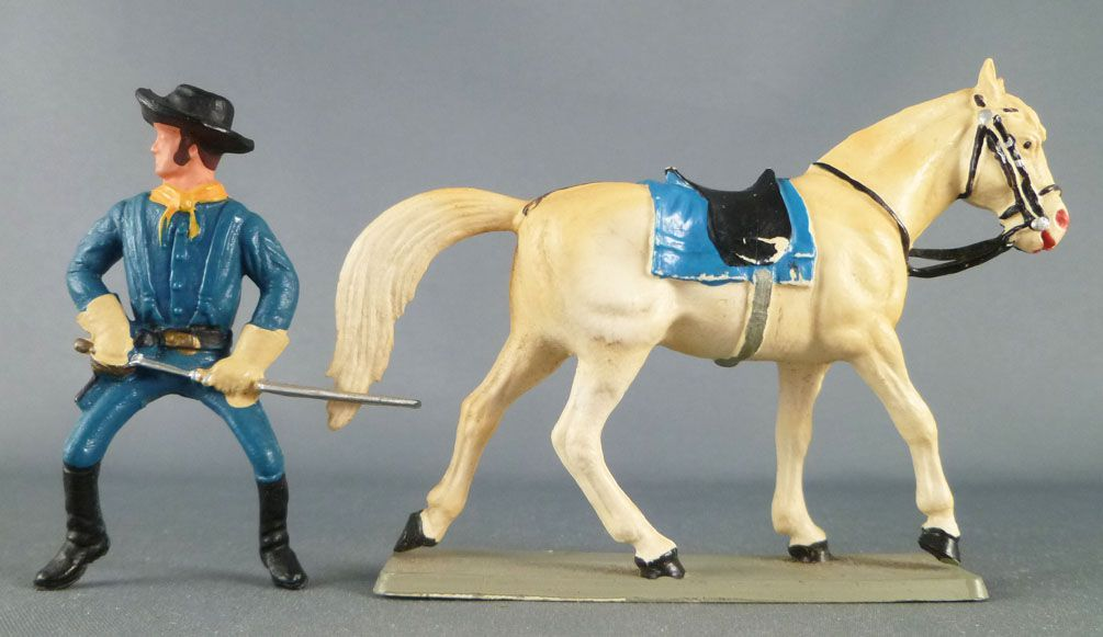 Starlux - Tuniques Bleues - Cavalier sabre devant (réf CTB2)