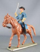 Starlux - Tuniques Bleues - Cavalier sabre en l\'air cheval baie (réf CTB3)
