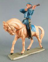 Starlux - Tuniques Bleues - Cavalier tireur fusil cheval baie clair(réf CTB5)