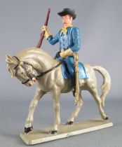 Starlux - Us Cavalry - Mounted brandishing rifle grey horse (ref CTB6)