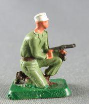 Starlux 30mm - Militaire - Légionnaire Combattant Tireur Mitraillette Genoux (réf 1194)