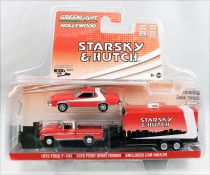 Starsky & Hutch - Greenlight Hollywood - 1976 Ford Gran Torino, 1972 Ford F-100 & Hauler 1/64ème