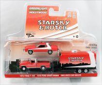 Starsky & Hutch - Greenlight Hollywood - 1976 Ford Gran Torino, 1972 Ford F-100 & Hauler 1/64ème