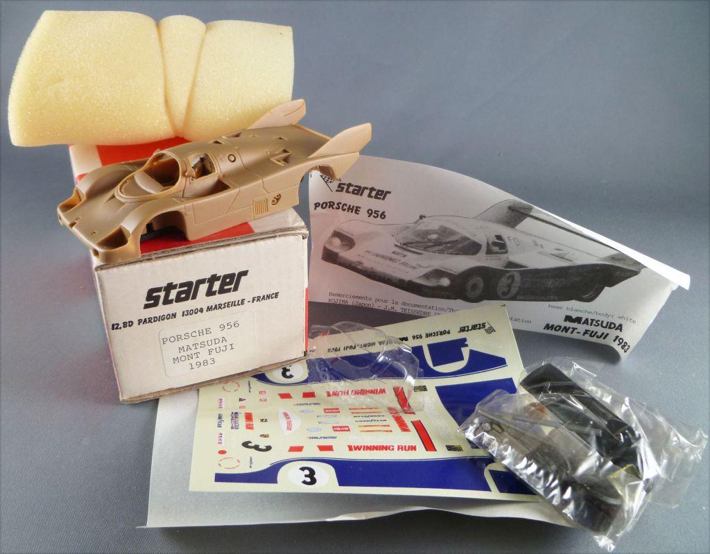 Starter Porsche 956 Matsuda Mont Fuji 1983 Kit Résine 1/43 Neuf Boite