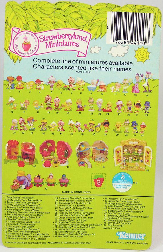 Charlotte aux fraises - Figurine pvc neuve en blister - Charlotte et le gâteau d\'anniversaire (1)
