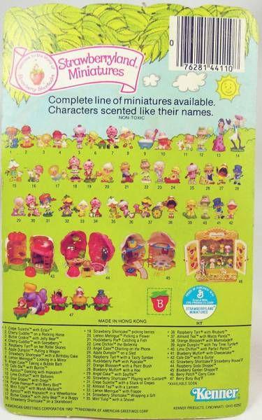 Strawberry shortcake - Pvc figure (Mint on card) - Orange Blossom with paint brush