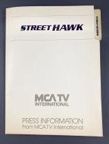 Street Hawk (Tonnerre Mécanique) - Dossier de Presse (Press Information) MCA TV International (1984)