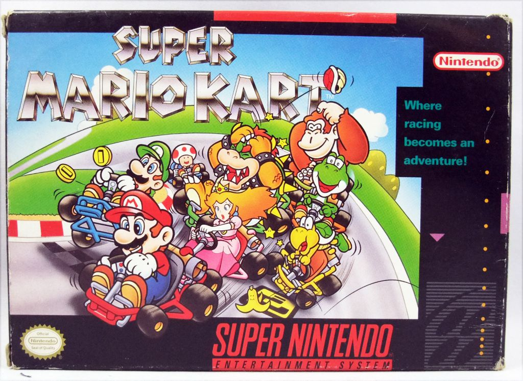 Super Nintendo Entertainment System Snes Super Mario Kart Usa Ntsc Version