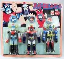 Super Robot Set - Popy - Grendizer, Combattler V, Gaiking - 5\'\' Vinyl figures set