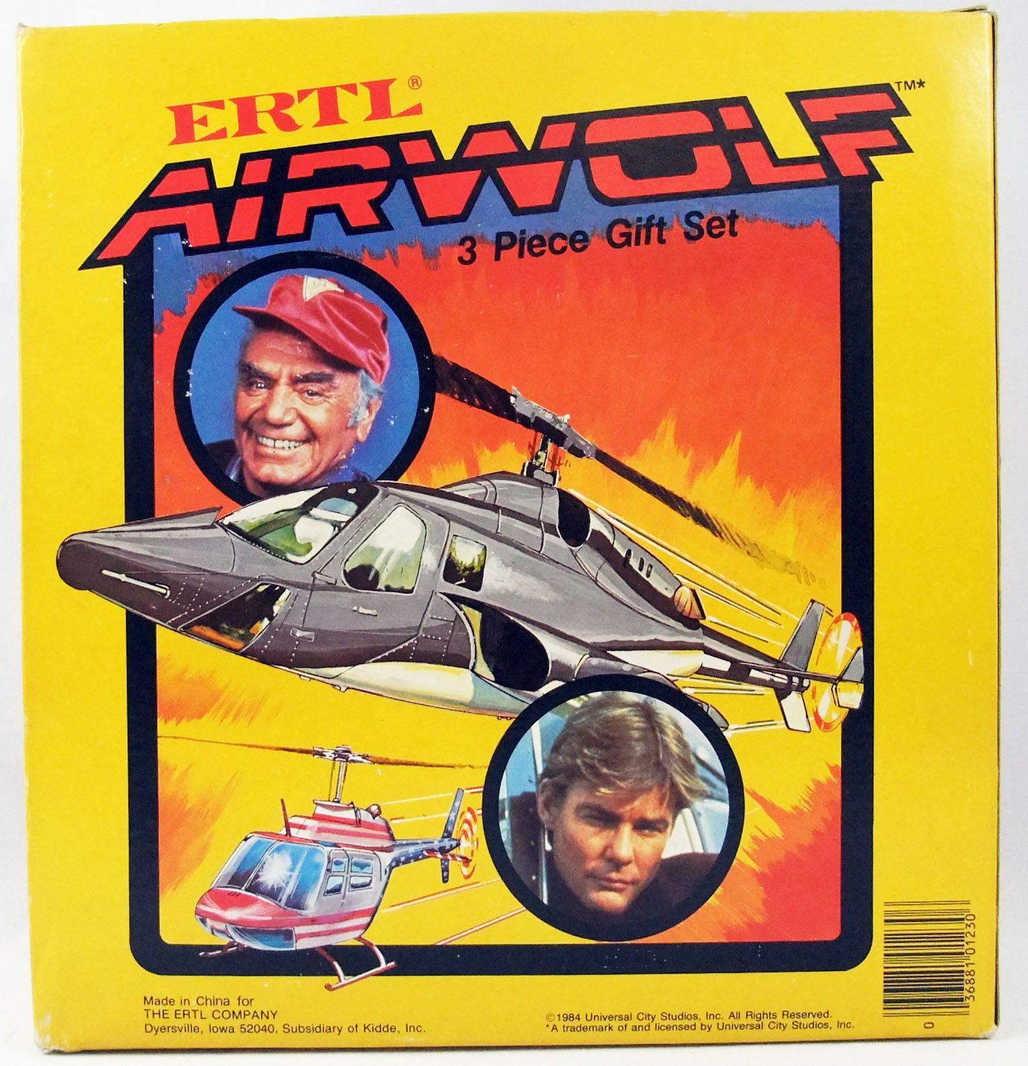 Supercopter (Airwolf) - Coffret de vehcules au 1/64° - ERTL 1984