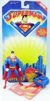 Superman Animated Series - Capture Net Superman (loose with cardback)