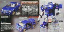 Takara Transformers Binaltech Bluestreak (Subaru Impreza WRX)
