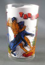 Tarzan - Amora mustard glass - Tarzan and the Panther