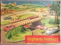 Technofix GE 298 Circuit Highway Viaduct 3 Voitures en Boite
