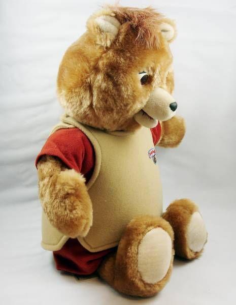 Teddy Ruxpin - Peluche parlante animée magnétophone - 1985