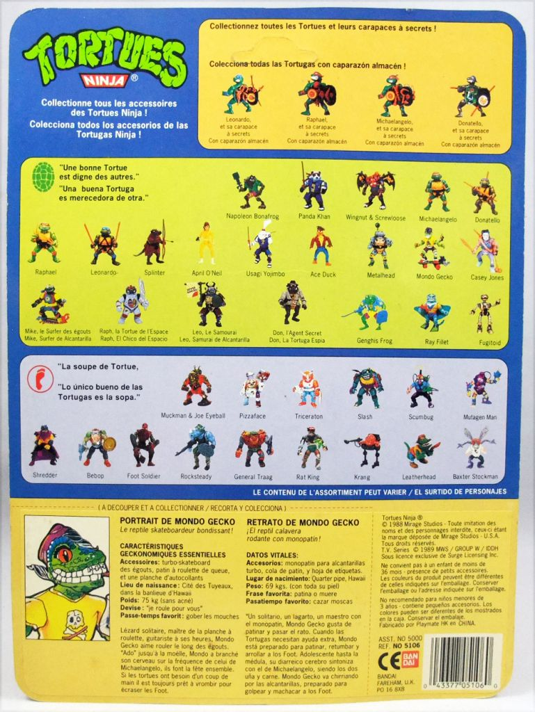 Teenage Mutant Ninja Turtles - 1990 - Mondo Gecko