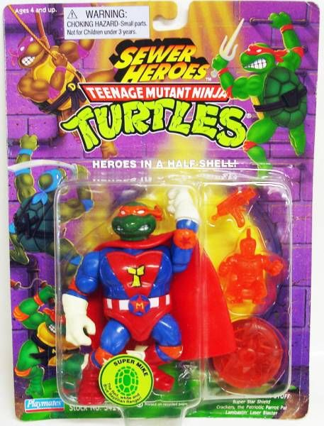 Teenage Mutant Ninja Turtles - 1993 - Sewer Heroes - Super Mike
