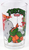 Teenage Mutant Ninja Turtles - Amora drinking glass 1990 - Leo & Mikey vs. Bebop & Rocksteady