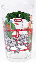 Teenage Mutant Ninja Turtles - Amora drinking glass 1990 - Leo, Raph, April & the Mousers