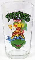 Teenage Mutant Ninja Turtles - Amora drinking glass 1992 - Leonardo and the snowman