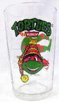 Teenage Mutant Ninja Turtles - Amora drinking glass 1992 - Raphael on a snow sled