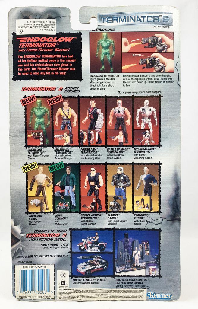 Terminator 2 - Kenner - Mint on card Endoglow Terminator