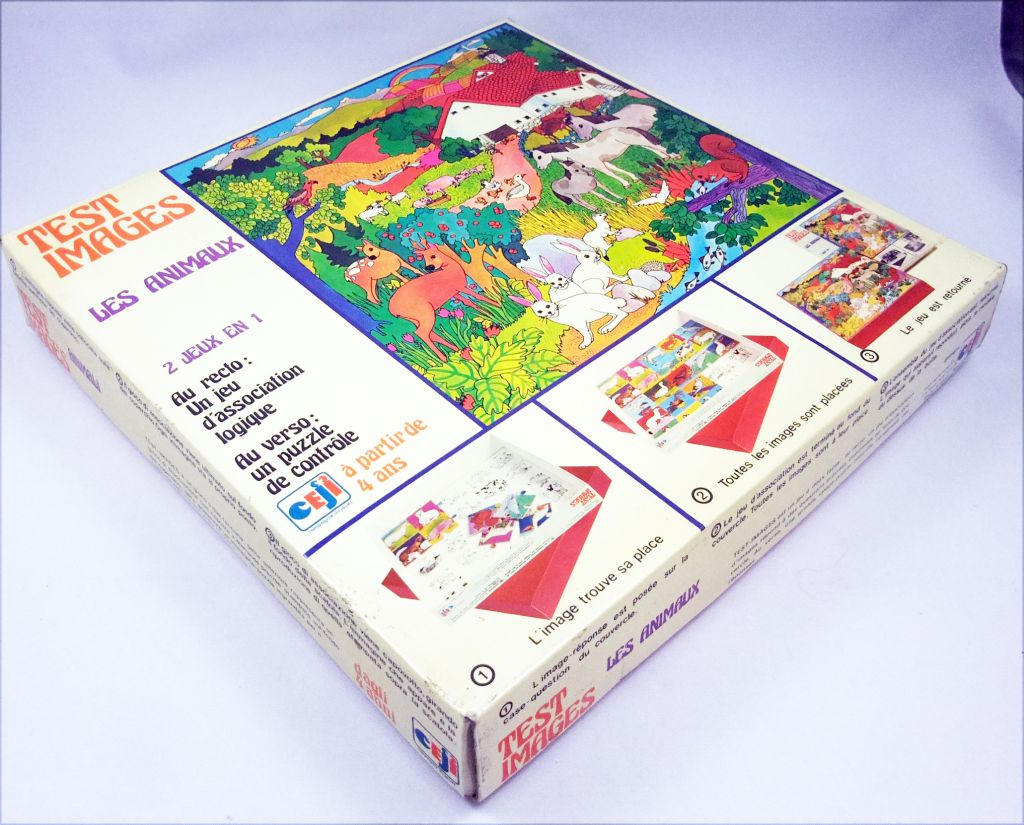 Test Images Les Animaux - Board Game - Ceji Compagnie du Jouet 1972
