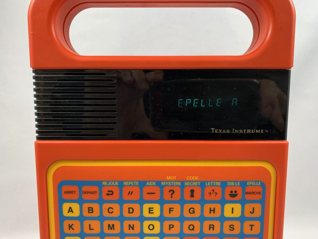 Texas Instruments - Speak & Spell (french version) with 10th Anniversary Box