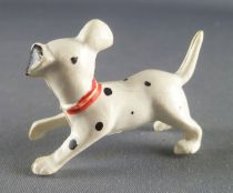 The 101 dalmatians - Jim figure - Puppy running head turned on right side (red collar)