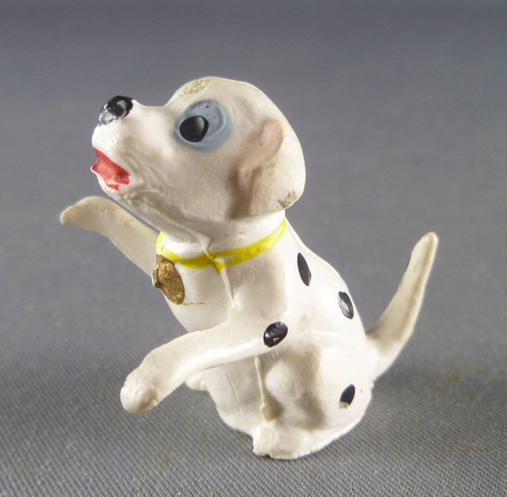 The 101 dalmatians - Jim figure - Puppy seating arms up (yellow collar)