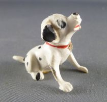 The 101 dalmatians - Jim figure - Puppy seating head up (red collar)