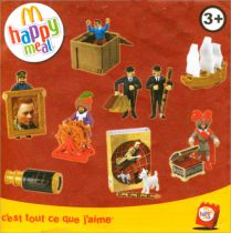 The Adventures of Tintin - McDonald Happy Meal 2011 - Set of 8 pieces