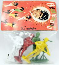 The Beatles - Emirober - set of 4 figures Mint in George Harrison Baggie