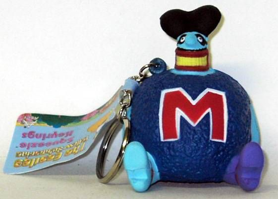 "The beatles - Yellow Submarine ""Blue Meanie\"" Squeeze key-chain"
