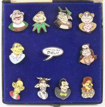 The Bébête Show - Set of 11 enamel pins - TF1 1991