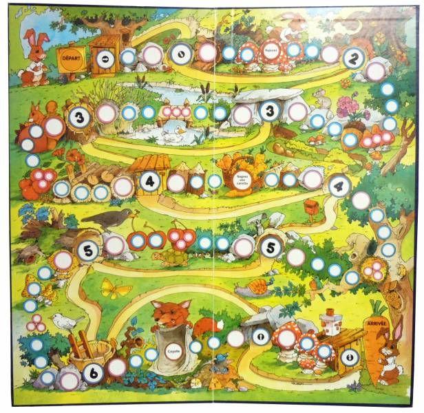 The Cunning Rabbit - Board Game (Hubert RUBLON Illustrator) - Habourdin International 1985