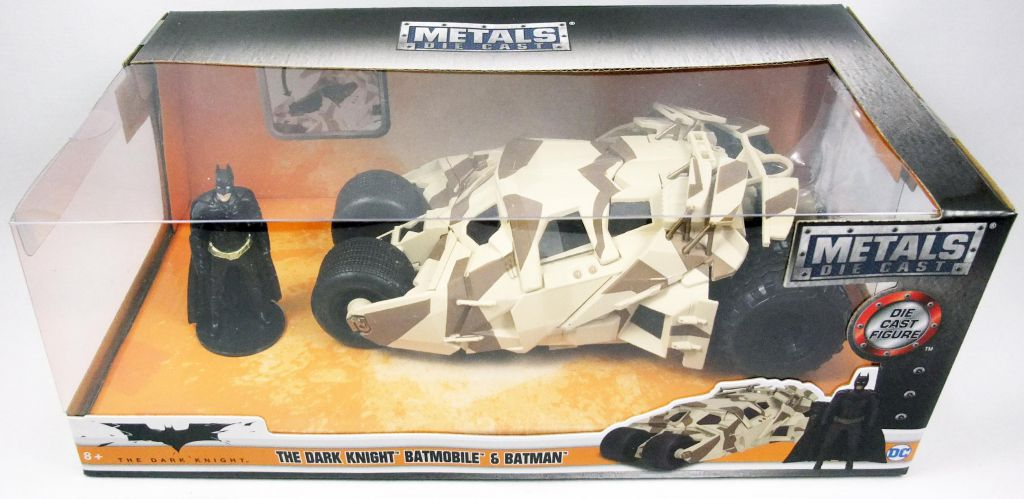 The Dark Knight - Jada - Batmobile (version camouflée) métal 1:24ème avec figurine Batman
