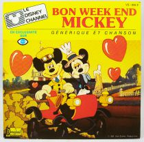The Disney Channel - Vinyl Record - French original theme - Walt Disney Prod. 1985