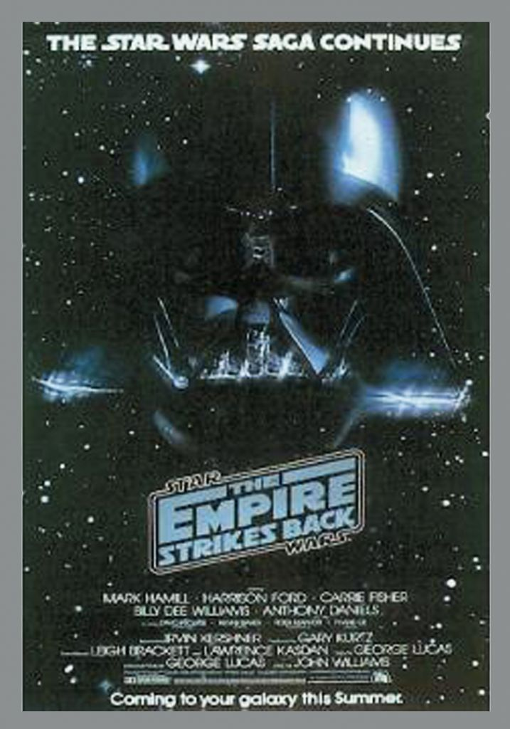 """The Empire Strikes Back - Movie Poster One Sheet 24\""""x36\"""" (Portal Publications PTW532 Ltd 1992)"""