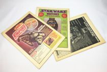 The Empire Strikes Back 1980 - Marvel Weekly (UK) - 3 Publicités Star Wars (dos de magazine)