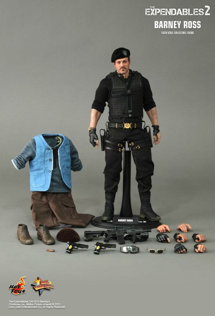 "The Expendables 2 - Barney Ross (Sylvester Stallone) 12"" figure - Hot Toys MMS 194"