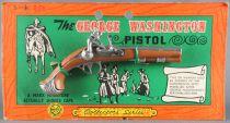 The George Washington Pistol - Marx Toys Miniature Métal Amorce - Neuf sur Carte