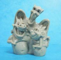The Hunchback of Notre Dame - Nestlé 1996 Premium Figures - Victor, Hugo, and Laverne