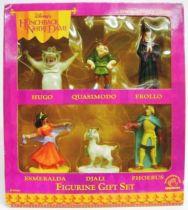 The Hunchback of Notre Dame - Set of  6 PVC Figures - Hugo, Quasimodo, Frollo, Esmeralda, Djali & Phoebus - Applause 1996
