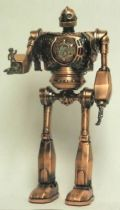 The Iron Giant metal clock figure bronze finition