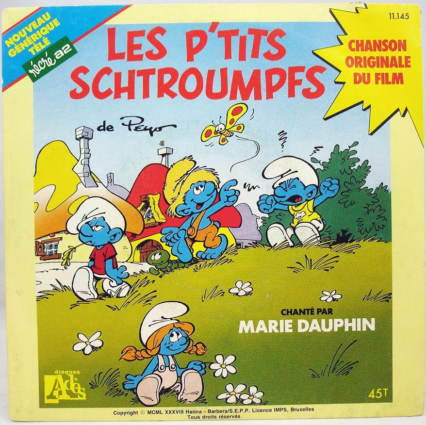 Les P\'tits Schtroumpfs - Disque 45T - Disques Ades 1988