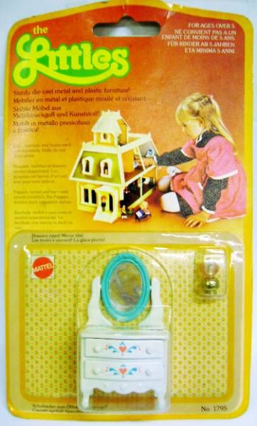 The Littles - Mattel - Diecast Furnitures: Hairdresser Ref.1795