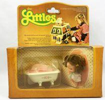 The Littles - Mattel - Mobiliers Métal : Baignoire avec Daphné Ref.1792