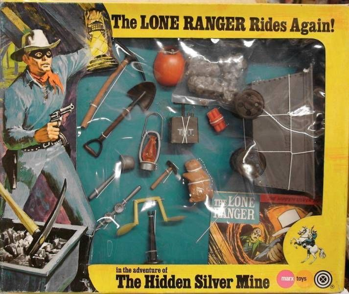 The Lone Ranger - Marx Toys - Accessory Set The Hidden Silver Mine